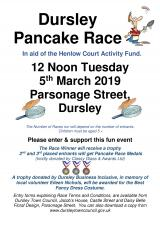 Annual Pancake Race: Tuesday 5th March 2019