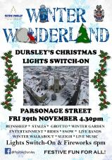 FESTIVE DURSLEY'S CHRISTMAS LIGHTS SWITCH-ON EVENT