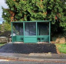 Refurbished bus shelter on Uley Road looks as good as new!